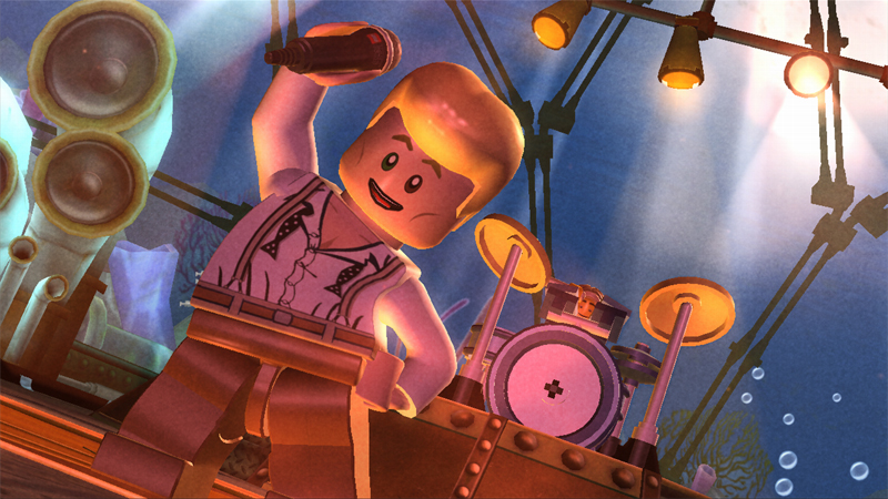 Lego Rock Band on Game and Player